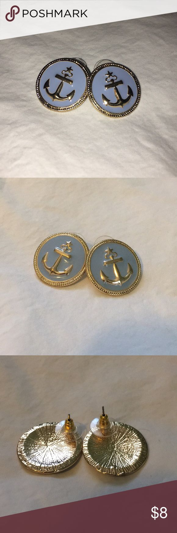NWOT Anchor earrings Anchor earrings from Charming Charlie. Periwinkle blue, very cute! NWOT, never worn. Excellent condition. Make an offer or bundle!! Charming Charlie Jewelry Earrings