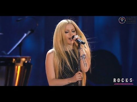 The passing of the flame was wonderful to watch and to have one of my favorite songs to be performed during made it even better!! Avril Lavigne - Fly (live on Special Olympics 2015) - YouTube