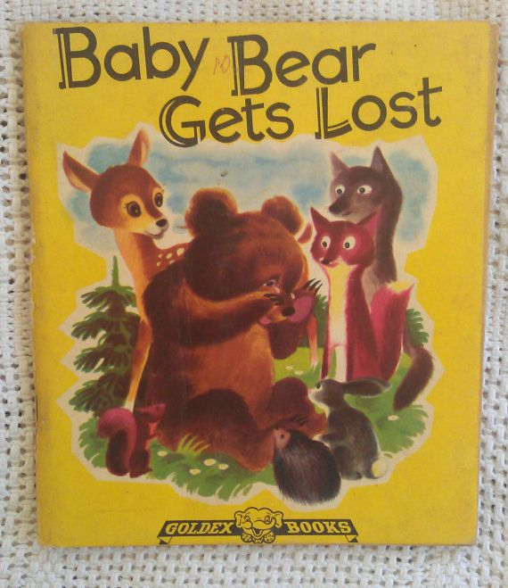Baby Bear Gets Lost. Goldex Books. Aprox by avintagesparrowsnest, $12.00