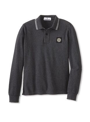 53% OFF Stone Island Kid's Melange Polo (Anthracite)