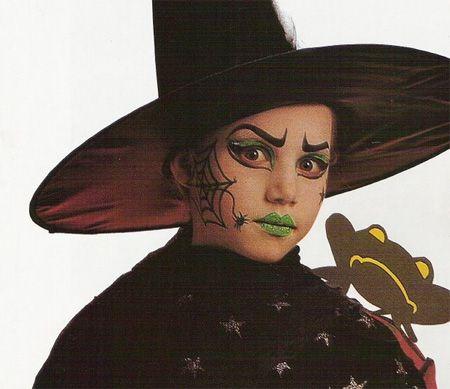 Maquillaje de bruja para niñas. Halloween 2010 , Disfraces caseros y tiendas , Cumpleaños infantiles