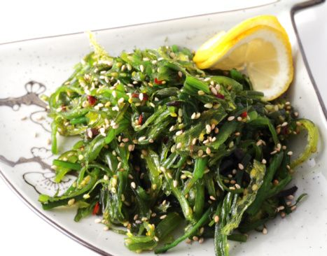 Seaweed Salad - I made this salad with cut up nori instead of arame, and it was amazing!!