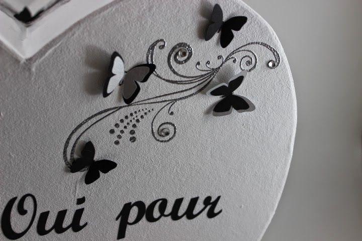 Decoration urne mariage coeur