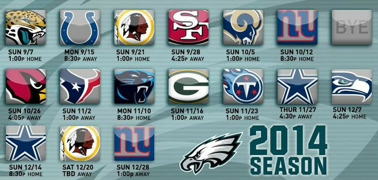 Philadelphia Eagles game schedule