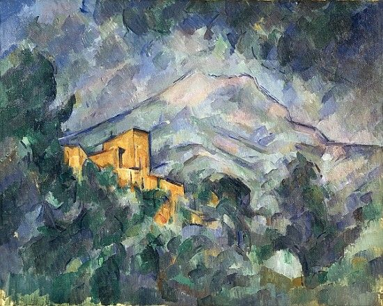 Titre de l'image : Paul Cézanne - Montagne Sainte-Victoire and the Black Chateau, 1904-06