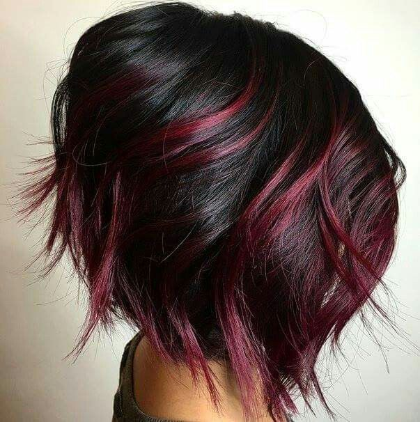 The 25 best black hair red highlights ideas on pinterest red 85 best short hairstyles 2016 2017 love this hairhair color pmusecretfo Gallery