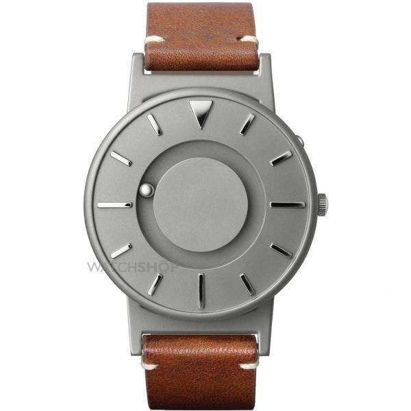 Unisex Eone The Bradley Classic Cognac Leather Strap Titanium Watch BR-BRWN