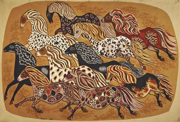 Horse Tapestry. FRÈRE DOM ROBERT DE CHAUNAC (1907-1997) | TAPISSERIE 'HEURTE BISE', ÉDITÉE PAR TABARD FRÈRES & SOEURS AUBUSSON, 1958 | Textiles & Costume, Tapestry | Christie's