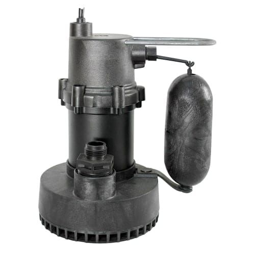 Little Giant 505701 1/4 HP Submersible Sump Pump with Integral Snap-Action Float and 25ft. power cord, Grey zinc