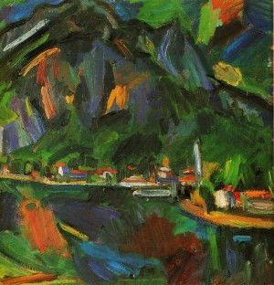 Ennio Morlotti, Paesaggio di Lecco. 1940