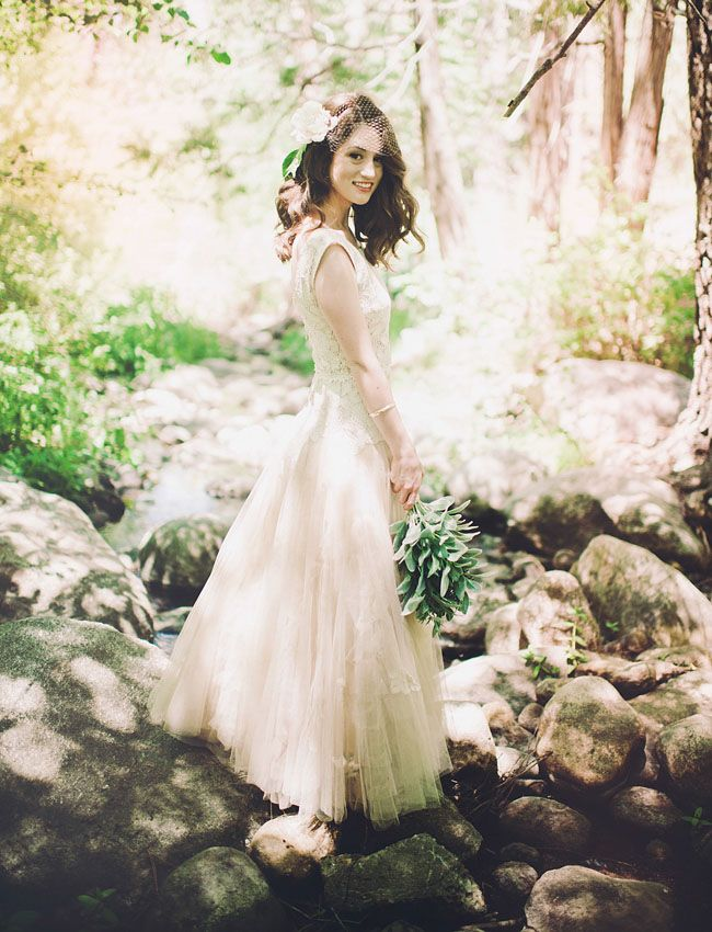Snippets, Whispers & Ribbons Bride in Blush for a DIY Camp Wedding