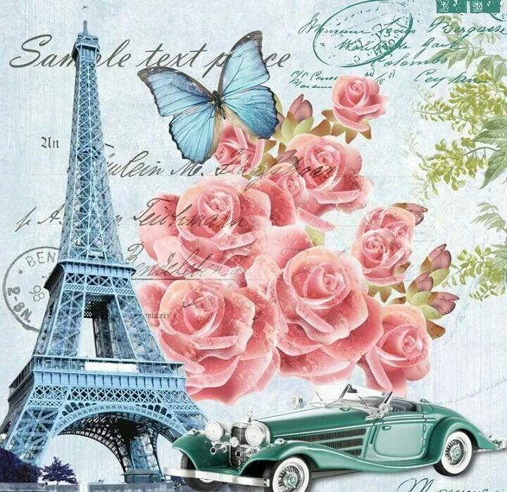 Рисованные французские открытки, смешные