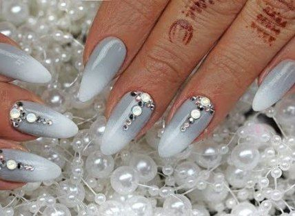 new nails art simple rhinestones 70 ideas  crazy nail