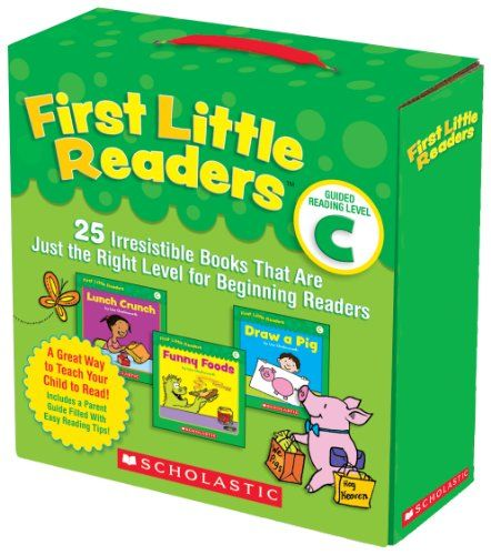 First Little Readers Parent Pack: Guided Reading Level C: 25 Irresistible Books That Are Just the Right Level for Beginning Readers by Liza Charlesworth.   http://www.amazon.com/dp/0545231515/ref=cm_sw_r_pi_dp_5x4Hsb1XEP9WTHH3