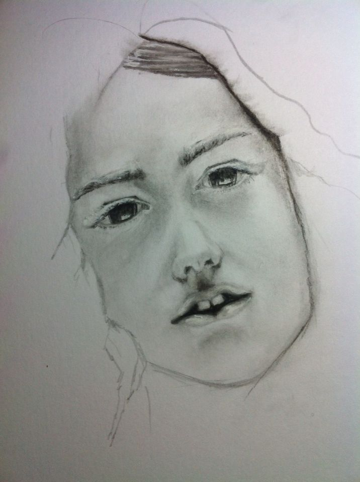 Portrait - Graphite & Charcoal on paper
