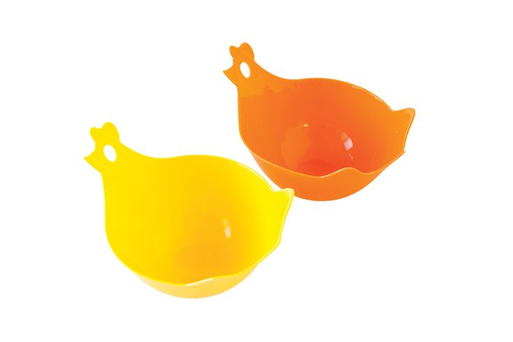 Hen & Chick Silicone Egg Poachers — keeps more flavour in your eggs by minimizing the amount of water that touches them