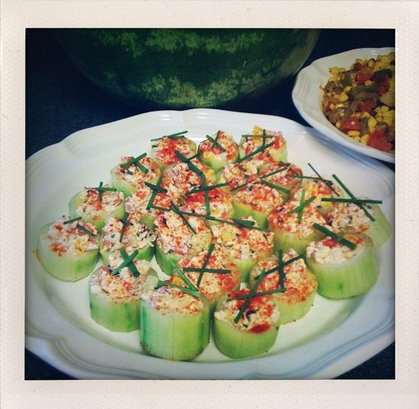 Shrimp ceviche in cucumber cups: Paleo Food, Mexicans Food, Seafood ...