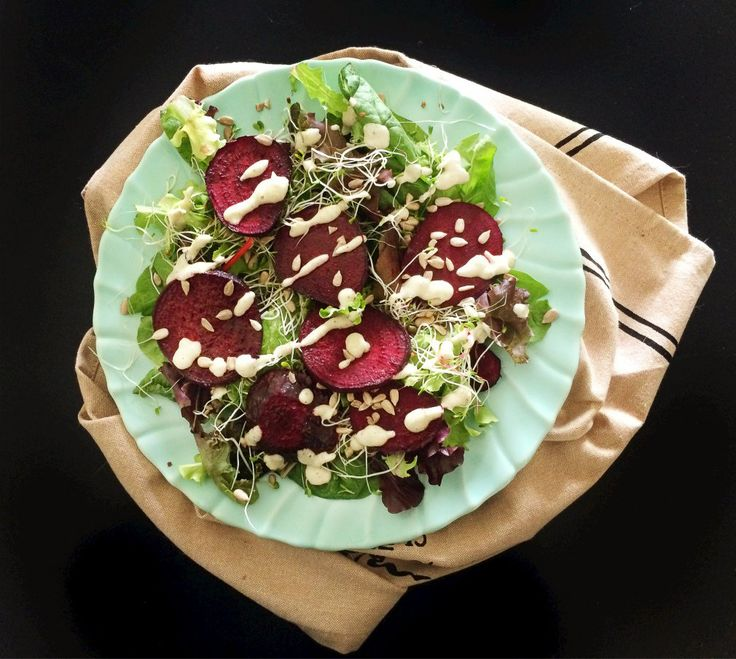 Vegan Salad Dressing Recipes: Creamy Cashew and Roasted Beet Salad