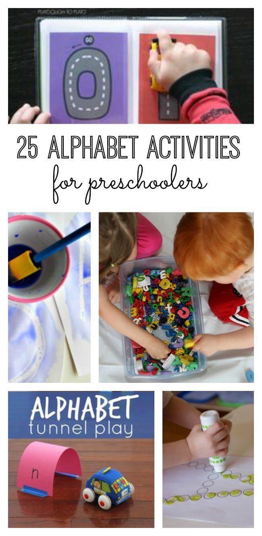 25 alphabet activities for preschoolers activities for Educational crafts for preschoolers