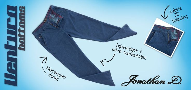 Simple, comfortable, classic from GA Creative Brands. The Jonathan D Ventura bottoms are made from a mercerised lightweight denim, that ensures absolute comfort without compromising on style. Better still, their straight leg fit, side entry pockets and concealed back pocket buttons further enhance its subtle sophistication.