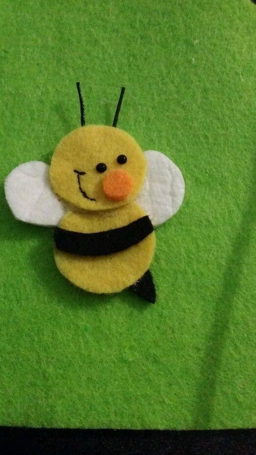 Girls Cute bumble bee felt hair clips /alligator clip set / hair accessories in Hair Accessories | eBay