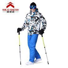 US $112.31 Professional Ski Suits Women Men Warm Winter Skiing Jackets + Pants Waterproof Skiing Snowboarding Clothing Set Brand HXT01. Aliexpress product