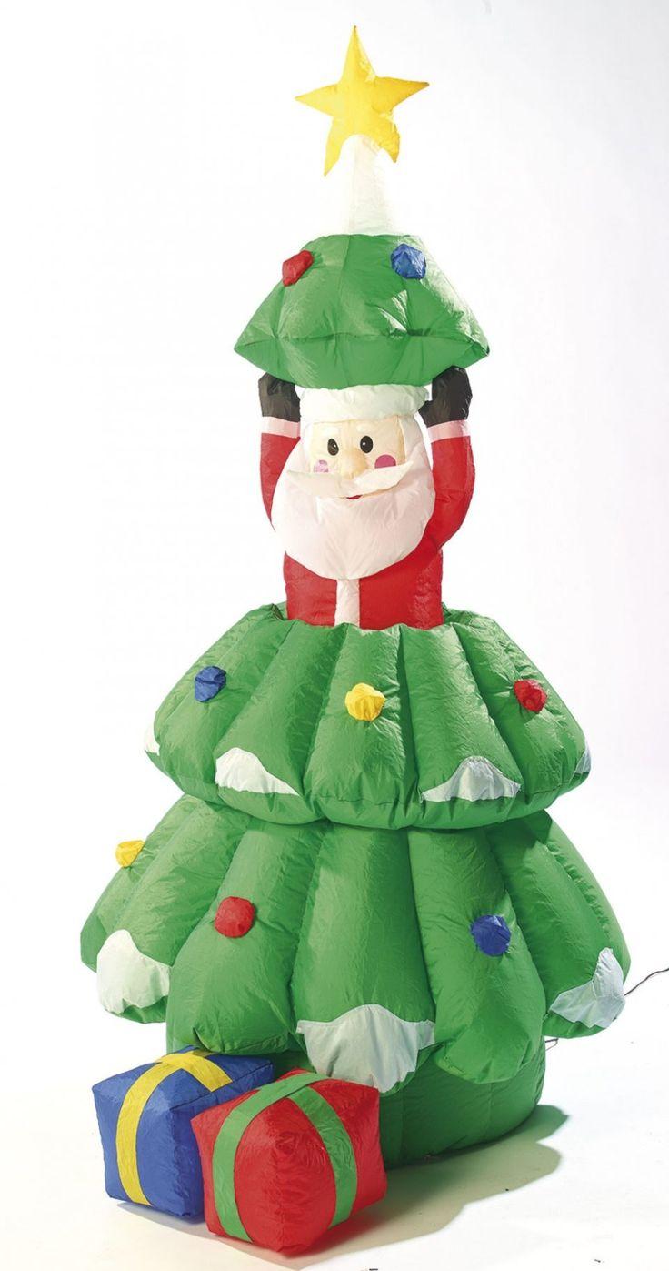 C'est la surprise de Noël avec ce joli sapin de Noêl gonflable qui a l'air normal, mais qui cache en réalité un malicieux Père Noël !