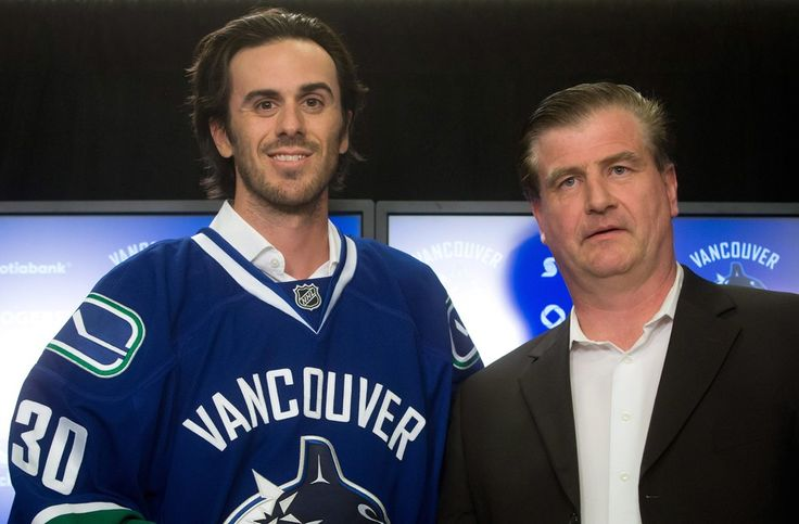Canucks goalie Ryan Miller finds his new BFF.  These guys are just awesome and a fun group to follow on Twitter.