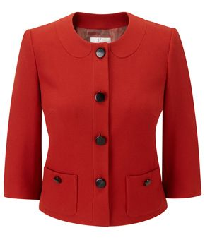 Petite Orange Collar Jacket