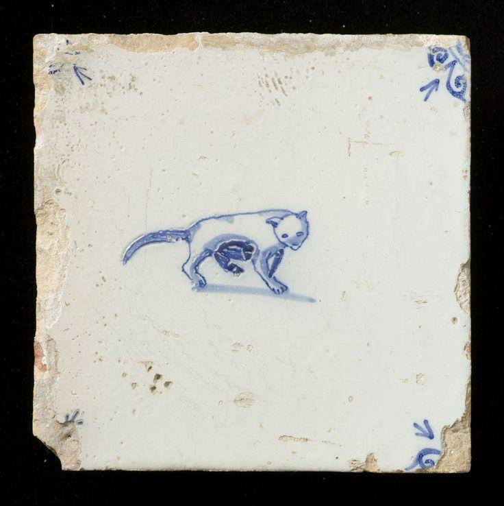 Antique Dutch tile (1650-1675)