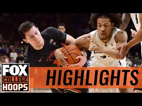 Colorado Buffaloes defeat Oregon State Beavers in Boulder | 2017 COLLEGE BASKETBALL HIGHLIGHTS