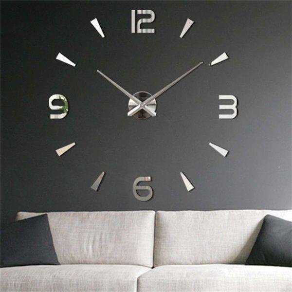 Hot 3d Diy Wall Clock Home Modern Decoration Crystal Mirror Sticker Living Room Moving Off Kan In 2020 Diy Wanduhren Spiegel Wanduhr Wanduhren Wohnzimmer