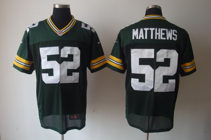 Nike NFL Jerseys Green Bay Packers Clay Matthews #52 Green