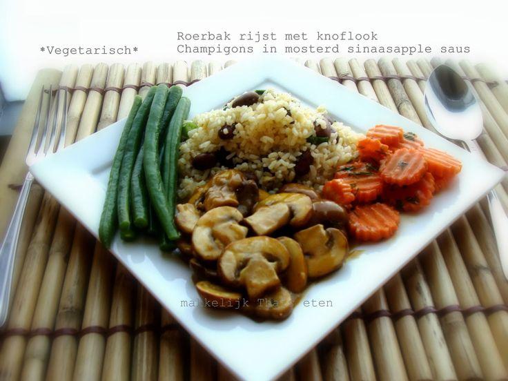 Roerbak rijst met knoflook en kastanje champignons in mosterd sinaasappel saus - http://www.volrecepten.nl/r/roerbak-rijst-met-knoflook-en-kastanje-champignons-in-mosterd-sinaasappel-saus-4721418.html