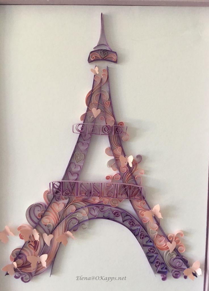 Eiffel Tower quilling