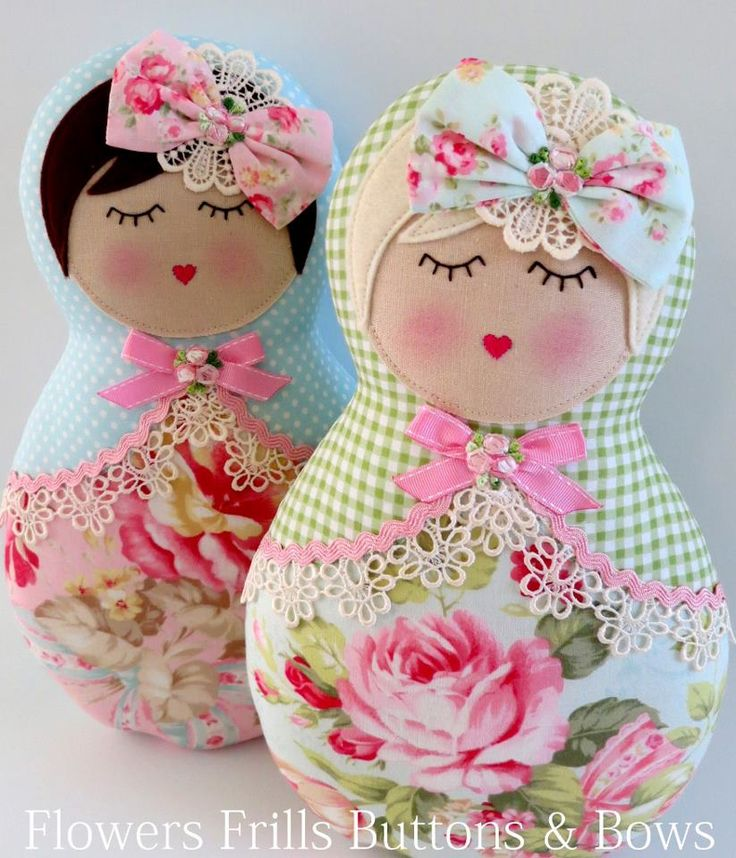 Patchwork dolls.