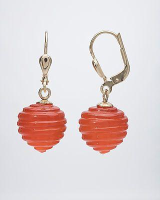 Jetzt Karneol-Ohrhänger #Edelstein #schmuck von #sognidoro #gemstone #jewelry by #sogni doro