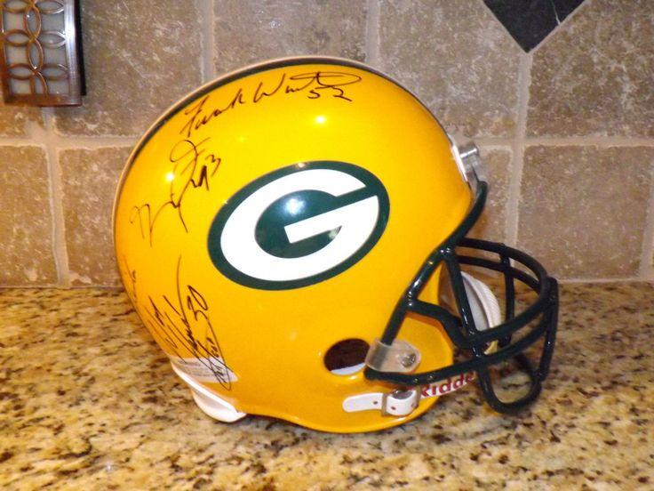 Riddell Green Bay Packers Full Size Replica Helmet Autographed Jerry Kramer Fran