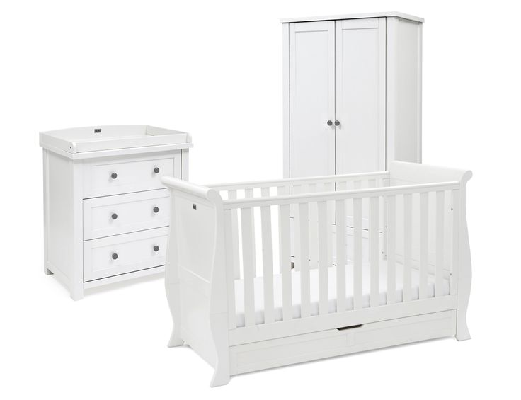 Buy Complete Nostalgia White Nursery Furniture Set from Silver Cross