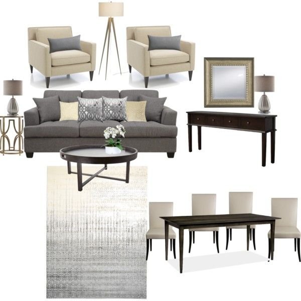 """""""Scheme 1 Living/Dining Room"""" by savvyco on Polyvore"""