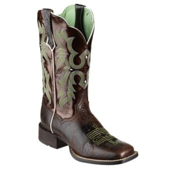 Ariat® Tombstone 11'' Western Boots for Ladies - Brown Patent/Chocolate Chip | Bass Pro Shops