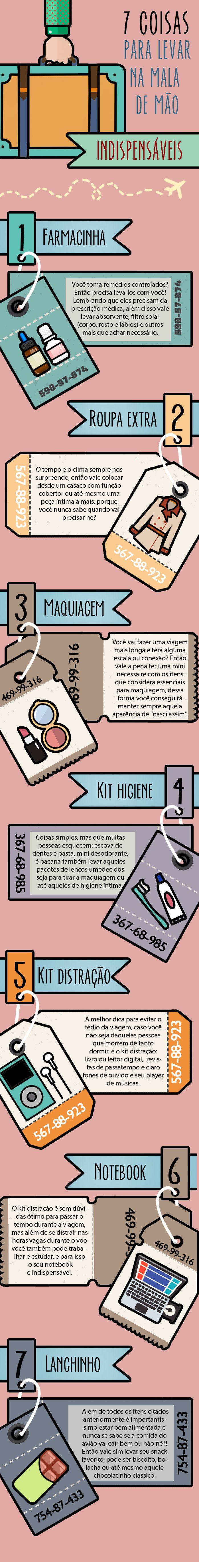 Mala de mão #CabideColorido #Infográfico