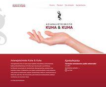 Asianajotoimisto Kuha & Kuha Projektina: WordPress kotisivut