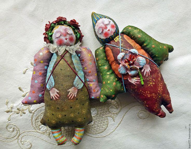 Купить Влюбленные.. - комбинированный, ангел, ангелочки, влюбленная пара, влюбленные, подарок, интерьерная кукла