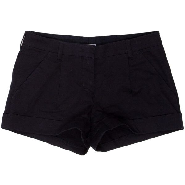 Pre-owned Prada Sport Shorts ($45) ❤ liked on Polyvore featuring shorts, bottoms, pants, blue, blue shorts, zipper shorts and prada sport