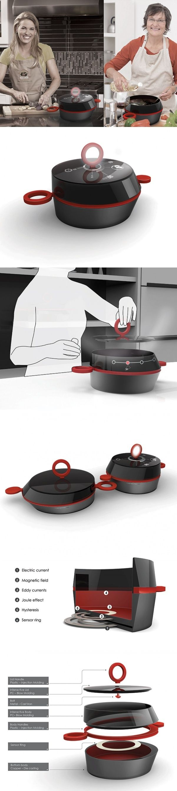 The #MeMeNtiC Connected #Pot merges traditional #cookware with #modern #tech in an aim to bring people back together in the #kitchen. #Yankodesign