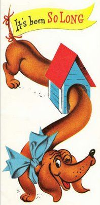 The Long and Short of it All: A Dachshund Dog News Magazine: Vintage Dachshund Art