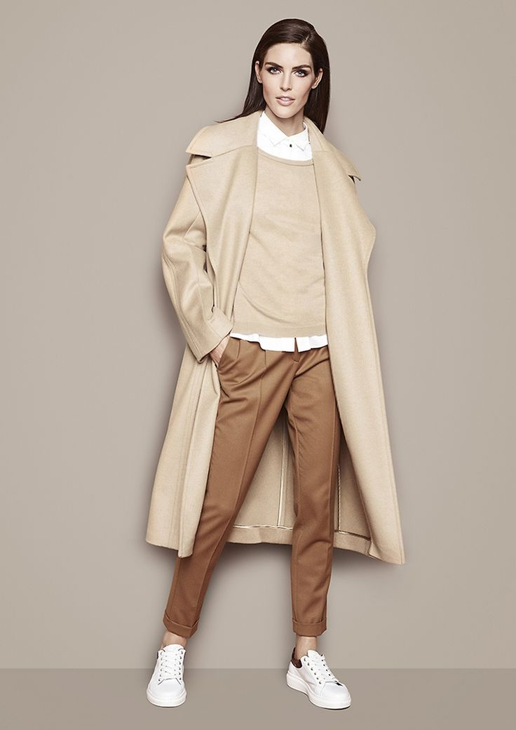 Mantel, Pullover, Bluse & Hose von BOSS |  Queen of elegance |  Lady | womenswear | Fashion | premium | cognac | coat | PKZ | buy here --> goo.gl/4mZOKS