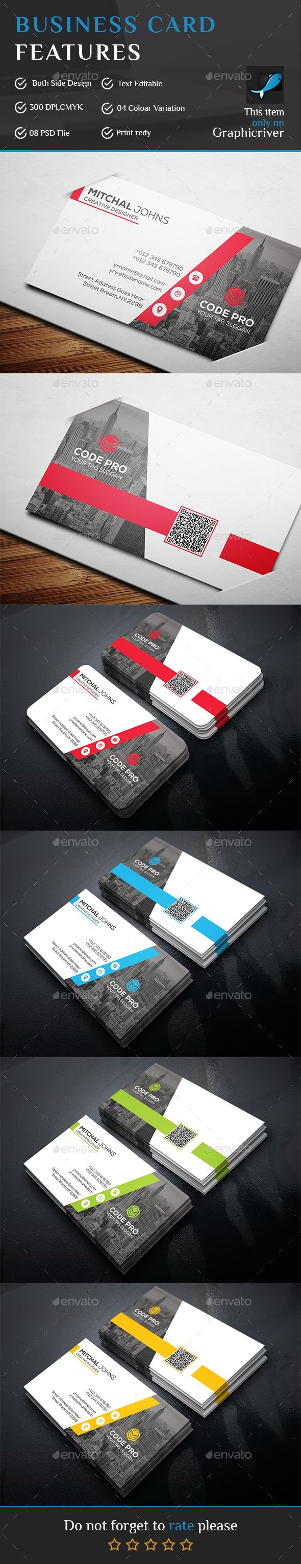 Corporate Business Card Template PSD More