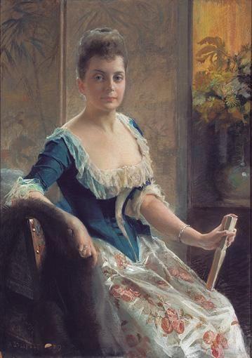 Portrait of a Swedish Noble Woman, Albert Edelfelt - Merkittävimpiin suomalaisiin kuvataiteilijoihin kuuluva Albert Edelfelt oli ennen kaikkea maalari,mutta myös graafikko ja kuvittaja.Hän oli aikoinaan Suomen taiteen kiistaton johtohahmo,mutta hänet tunnettiin myös ulkomailla,ja hän loi osaltaan pohjaa Suomen kulttuurin kansainväliselle arvostukselle.Euroopan hoveissa suosittuna muotokuvamaalarina hänellä oli yhteiskunnall.merkitystä paljon enemm.kuin muilla taiteilijoilla.